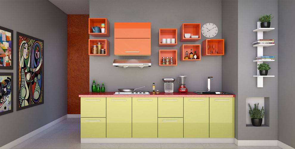 modular kitchen size