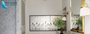 Home decoration with wall mirrors